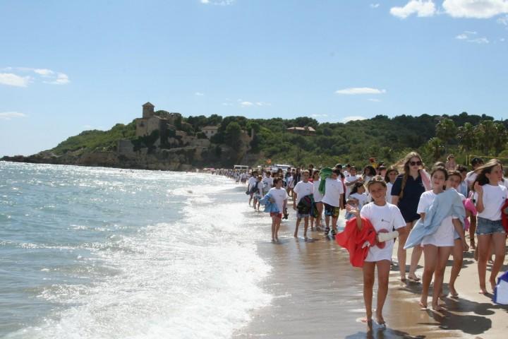 Tamarit-playa tallada