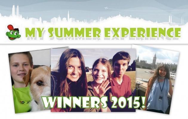 My summer experience winners 2015