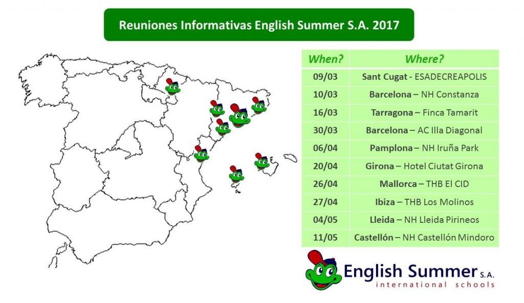 Mapa Reuniones INFORMATIVAS 2017