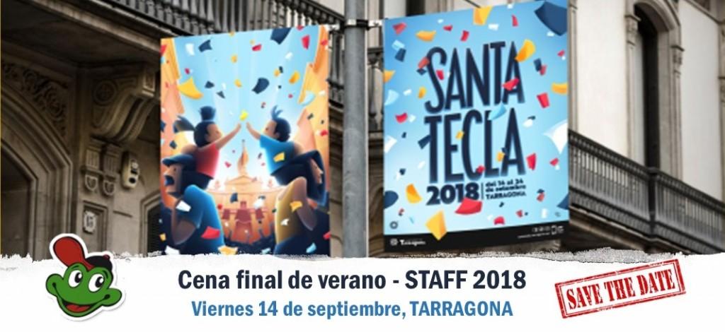 Banner Newsletter Cena Santa Tecla '18