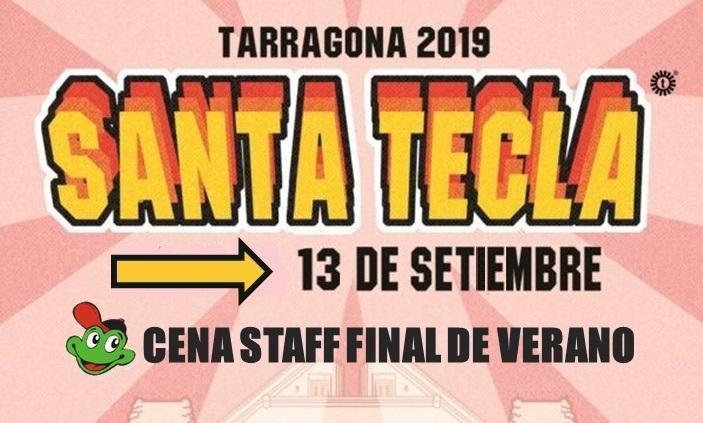 Cartell Sopar Santa Tecla